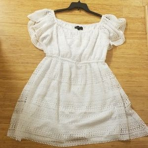 Lane Bryant White Lace Dress